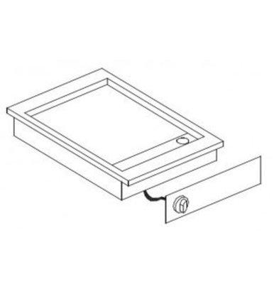 Combisteel Drop-In Grillplatte glatt | 400V-3,9 kW | 425x600x(h)181mm