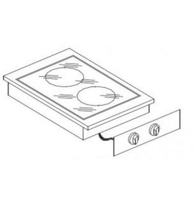 Combisteel Drop-In Elektroherd   2 Kochstellen   4,1 kW   400x600x(h)260mm