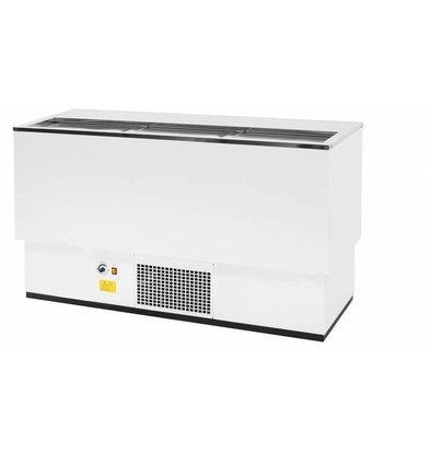 Combisteel Kühltruhe Weiß | Edelstahl Deckel | 230 Liter | 1510x545x(h)840mm