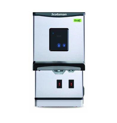 Scotsman Eiswürfel- Wasserspender DXN 207F | Touchscreen oder Tasten Bedienung | Cublets  und Eiswasser | 100kg/24St | 427x552x(h)769mm