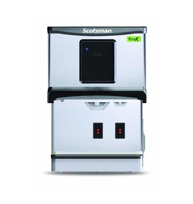 Scotsman Eiswürfel- Wasserspender DXN 107F | Touchscreen oder Tasten Bedienung | Cublets und Eiswasser | 70kg/24St | 427x552x(h)619mm
