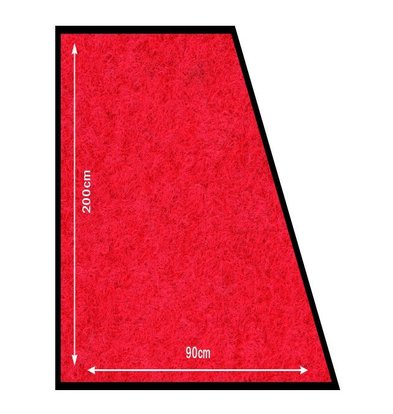 Securit Antirutsch-Matte Rot | Witterungsbeständig | 200x90cm