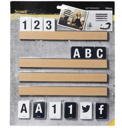 Securit Buchstabentafel Teak | Inkl. Ziffer und Buchstaben