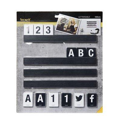 Securit Buchstabentafel Schwarz | Inkl. Ziffer und Buchstaben