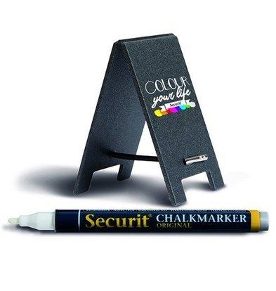 Securit Mini Kreidetafel 170x50x3mm | Inkl. Kreidemarker | 5 Stück