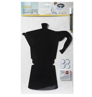 Securit Silhouette Moka | Inkl. Kreidestiftt und Klettband Streifen | 300x500mm