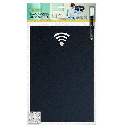 Securit Silhouette WIFI | Inkl. Kreidestift und Klettbandstreifen | 380x250mm