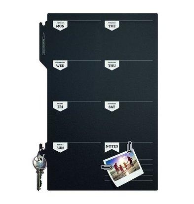 Securit Silhouette Wochenplaner | Inkl. Kreidestift und Klettband Streifen | 300x450mm