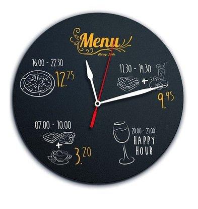 Securit Silhouette Uhr | Inkl. Kreidestift und Klettbandstreifen | 290x290mm