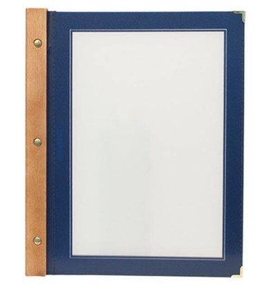 Securit Speisekarte Blau | Wood A4