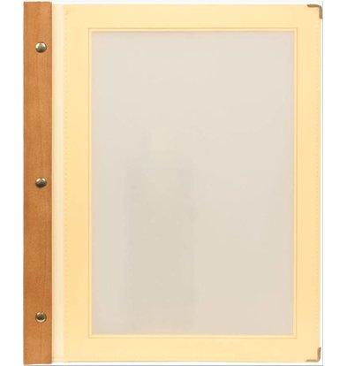 Securit Speisekarte Elfenbein | Wood A4