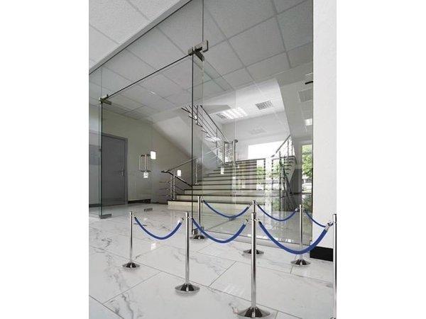 Securit Absperrkordel Chrom Samt Blau | 1.5 meter | DELUXE