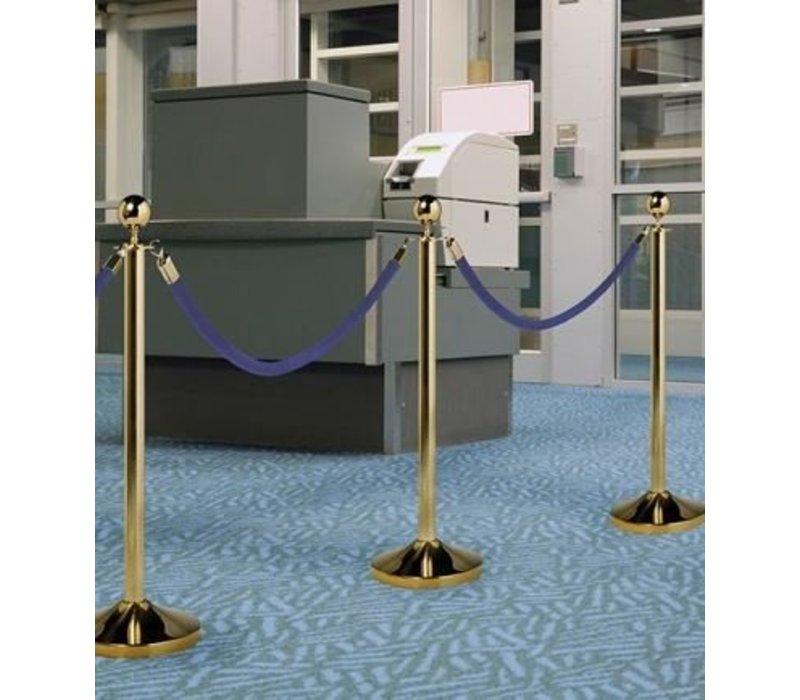 Securit Absperrkordel Gold Samt Blau | 1.5 meter | DELUXE