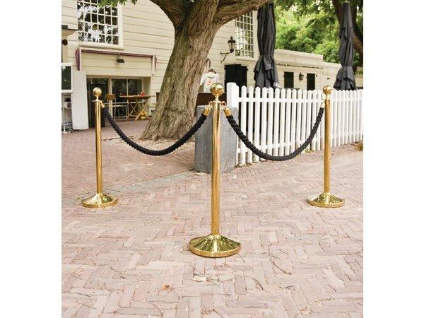 Securit Absperrkordel Chrom Satin Bronze   1.5 meter   DELUXE