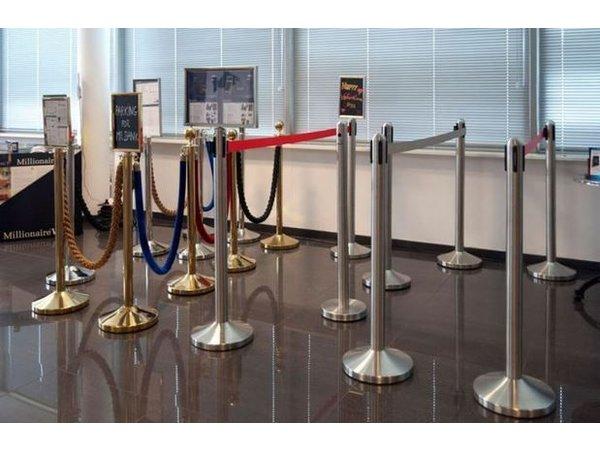 Securit Absperrkordel Gold Samt Rot | 1.5 meter | DELUXE