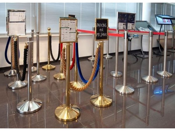 Securit Absperrkordel Gold Satin Schwarz | 1.5 meter | DELUXE