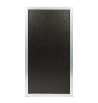 Securit Multifunktionelle Kreidetafel Stahlfarbig | 550x(h)1150mm