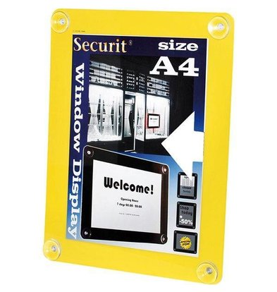 Securit Fenster Poster-Display Gelb A4