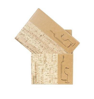 Securit Box mit 10 Weinkarten A4 Design | Kork | 370x290x210mm