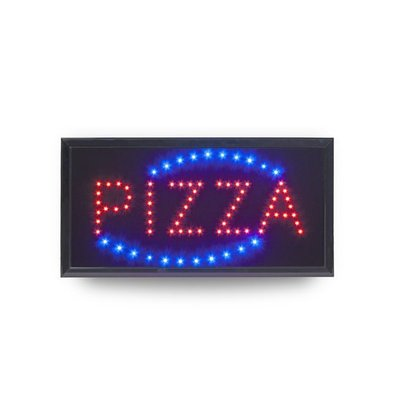 Securit LED Display PIZZA |475x240mm | Inkl. Adapter und 130cm Kabel
