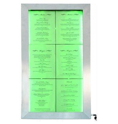 Securit LED Schaukasten | Edelstahl DELUXE | 6x A4