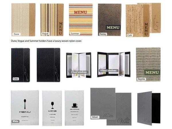 Securit Speisekarte Design | Weiß A4