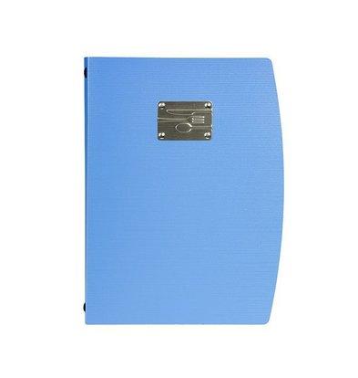 Securit Speisekarte Rio A4 | Blau mit Besteckschild | Doppelhülle für 4 Seiten