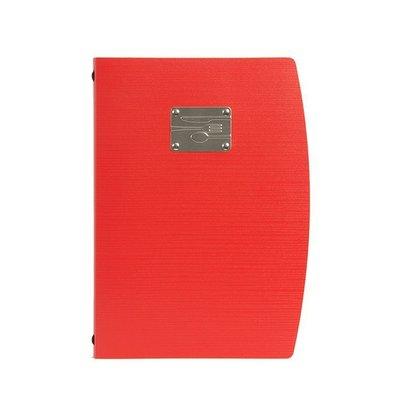 Securit Speisekarte Rio A4 | Rot mit Besteckschild | Doppelhülle für 4 Seiten