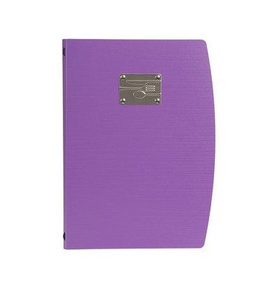 Securit Speisekarte Rio A4 | Violett mit Besteckschild | Doppelhülle für 4 Seiten