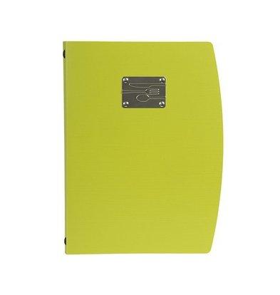 Securit Speisekarte Rio A4 | Grün mit Besteckschild | Doppelhülle für 4 Seiten