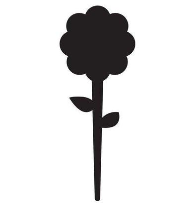 Securit Tag Silhouette  Blume | Inkl. Kreidestift | 5 Stück