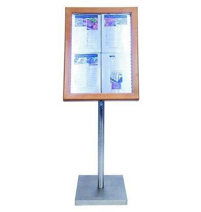 Securit LED Schaukasten Teak | 4x A4