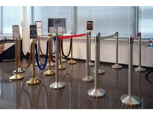 Securit Absperrpfoste Chrom Classic 13 kg  | Höhe 1m  | HEAVY DUTY | XXL ANGEBOT