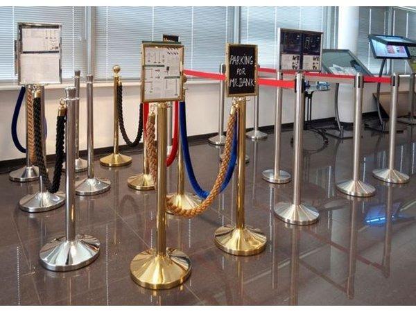 Securit Absperrpfoste Gold Classic 13 kg  | Höhe 1m  | HEAVY DUTY | XXL ANGEBOT