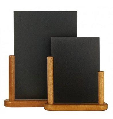 Securit Tisch Kreidetafel Elegant Teak | Erhältlich in 2 Größen