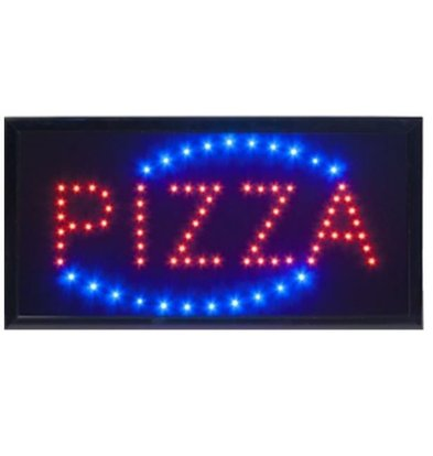 Securit LED Anzeige PIZZA | 480x240x20mm