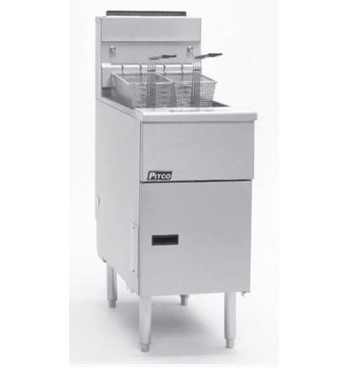 Pitco Elektro-Friteuse Solid State | Pitco Solstice SE14 | 17kW | 23Kg | 60Kg/St | 397x873x864(h)mm