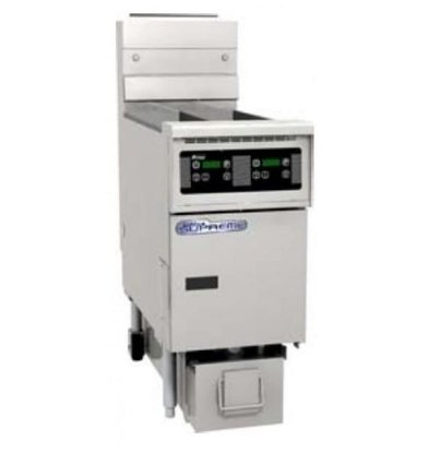 Pitco Gas-Friteuse Digital | Pitco Solstice SG14TS | 15kW | 11Kg | 60Kg/St | 397x864x864(h)mm