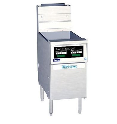 Pitco Gas-Friteuse Computer | Pitco Solstice Supreme SSH55 | 23000W | 23Kg | 75Kg/St | 397x875x864(h)mm