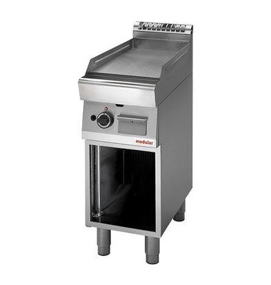 Modular Elektro-Grillplatte | Modular | mit Unterbau | glatt | 4,5kW | 85(h)x70x40cm