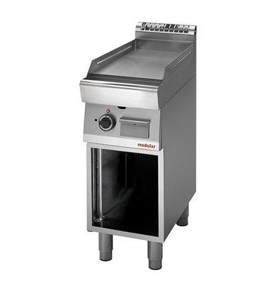 Modular Gas-Grillplatte | Modular | mit Unterbau | glatt | Piezo-Zündung | 85(h)x70x40cm