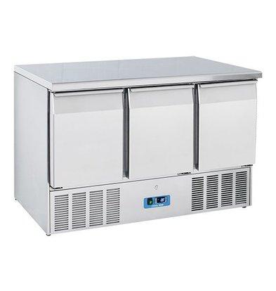 CaterCool Kühltisch | Edelstahl | 3 Türen | 85(h)x70x136,5cm