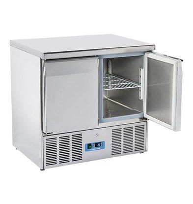 CaterCool Kühltisch | Edelstahl | 2 Türen | 88(h)x70x90cm
