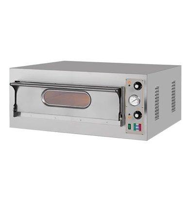 XXLselect Elektro-Pizzaofen | Edelstahl | 1 Kammer  66x66cm | 400V
