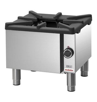 Modular Gas-Hockerherd | Modular | Extra-großem Brenner | Propan | 50(h)x55x55cm
