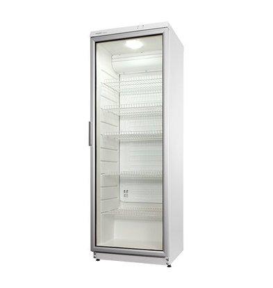 Exquisit Kühlschrank | Stahlblech Weiß | Glastür | 320L