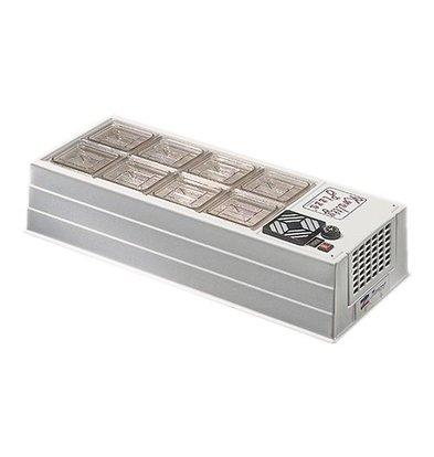 CaterCool Kühlvitrine | Edelstahl Deckel | GN1/1x1+GN1/3x1-15cm