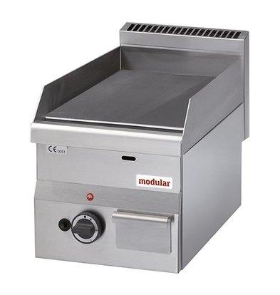 Modular Gas-Grillplatte | Modular | glatt | Gasdoppelbrenner | Piezo-Zündung | 28(h)x60x30cm