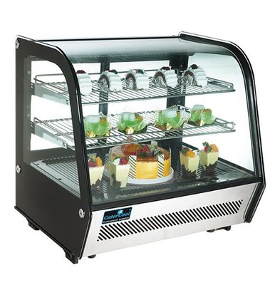 XXLselect Kühlvitrine | 120L | LED Beleuchtung | 2 Ebene | Schiebetüren