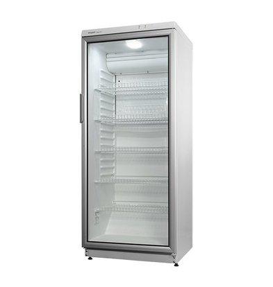 Exquisit Kühlschrank | Weiß | 275L | Glastür | Innen-Beleuchtung